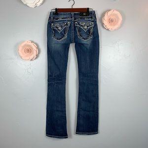 Miss Me Slim Bootcut Flap Pockets Sz 26 Pants K952